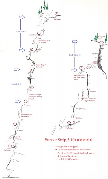 "Topo for ""Sunset Strip"".  I thought this route was fantastic!  A must ..."