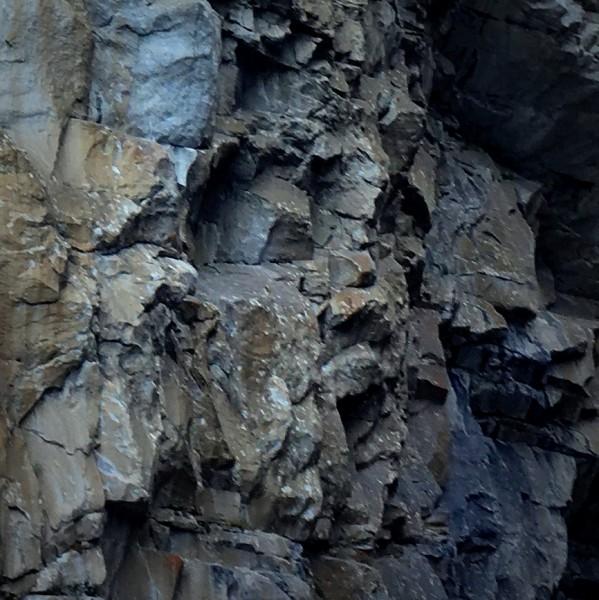 Face on the wall - Tenaya Canyon descent.