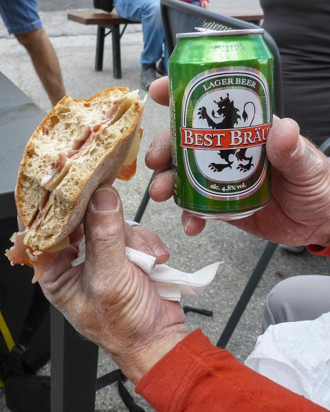 If you're not willing to eat ham and cheese sandwiches in the Dolomite...
