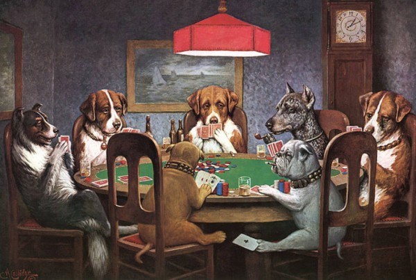 Dogs Playing Poker-Cassius Marcellus Coolidge