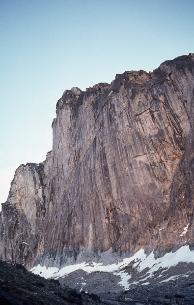 The North Face of Ulu. The proposed linefollowed shallow corners into ...