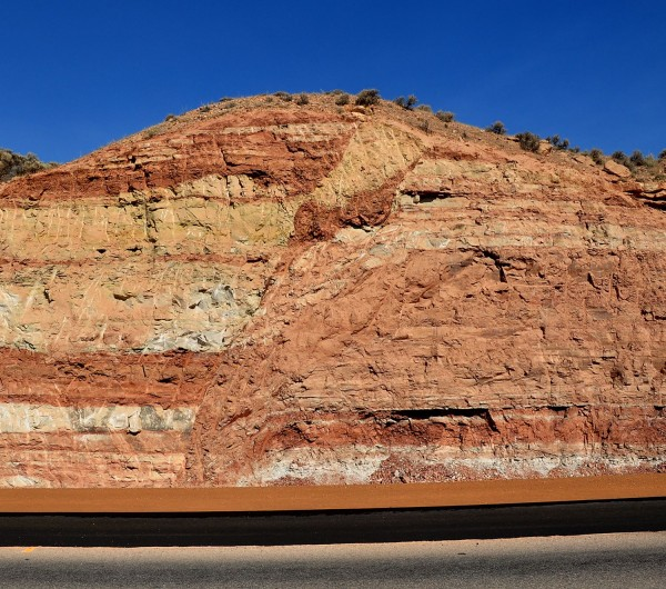 Fault in Mesozoic sandstone in central Utah