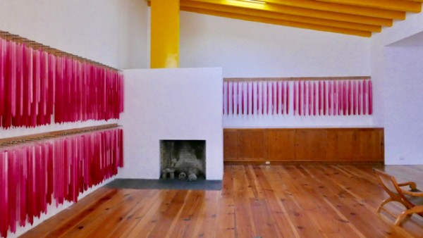 2.3 barragan's studio complete with an installation of coloured candle...