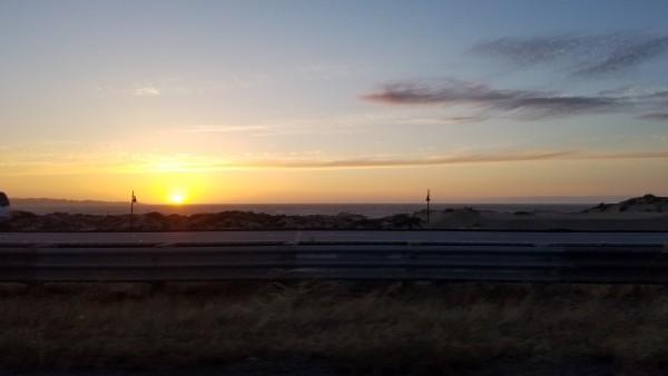 Leaving Monterey.