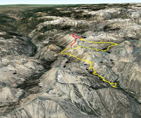 Onion Valley -> Kearsarge Pass -> Charlotte Col -> Mt Gardine...
