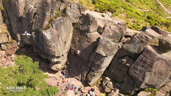 Johnny Dawes on Chalkstorm E3 hands free at the Roaches