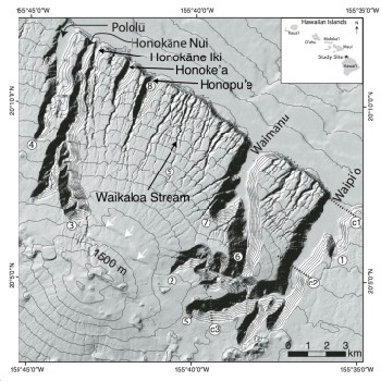 the hamakua coast with the locations of its seven valleys and the waik...