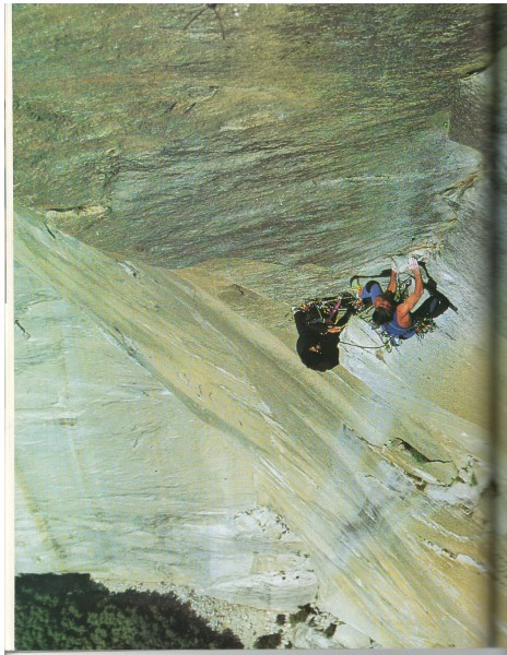 """Bill Price on pitch 17 (5.10d) of Excalibur"" 