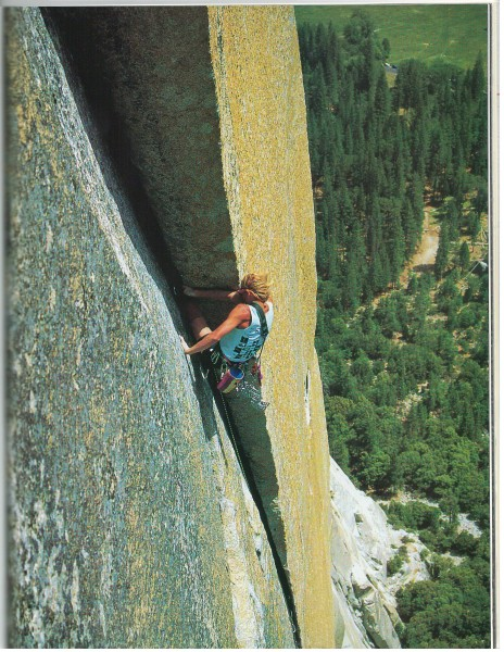 """Schneider on the 12th pitch (5.12b)""  