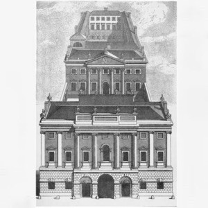 A perspectival drawing of the Bank of England's first non-rented locat...