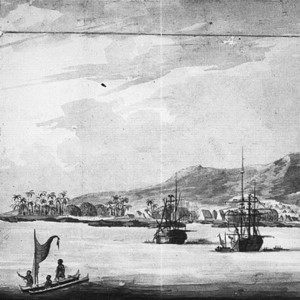 Drawing of Kealakekua Bay during Cook's third and final voyage (1779)