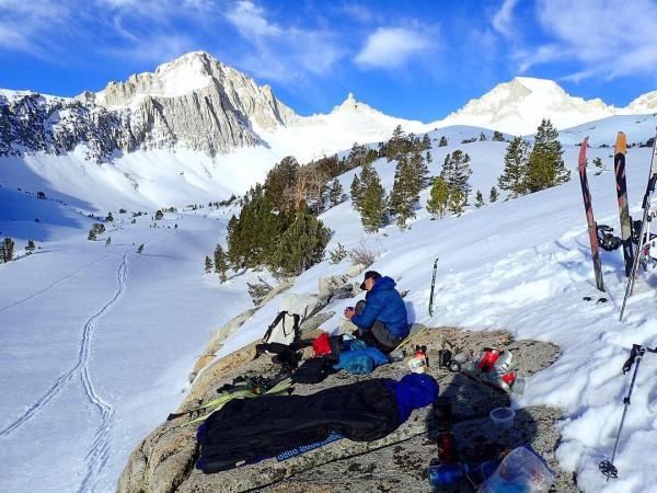 Camp east of Milestone Peak