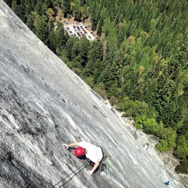 My brother on Goodrich Pinnacle, Right Side.