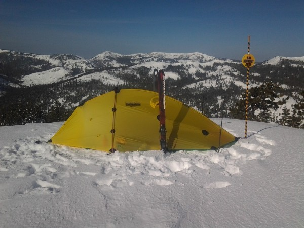 Camp at Alpine Meadows boundary