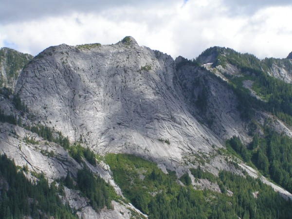 Looking at Exfoliation Dome from the Comb Buttress