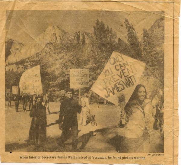 Protesting James Watt , the  second valley protest and this one barely...