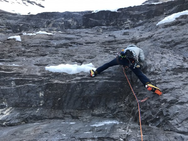 Climbing Cryophobia in the Ghost Valley, Alberta CA