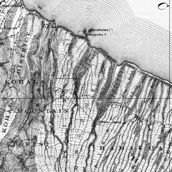 1916 edition of the usgs map that included the route of both the kohal...