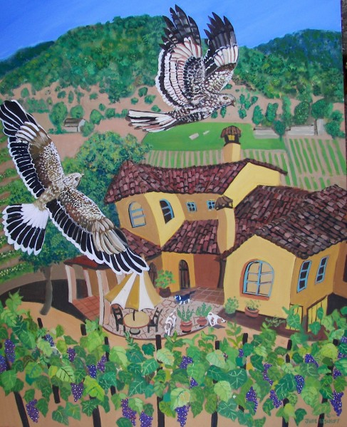 Aver Family Vineyards  24x30  Oil on Canvas