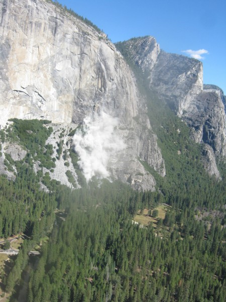 Rockfall on October 11, taken from Middle Cathedral