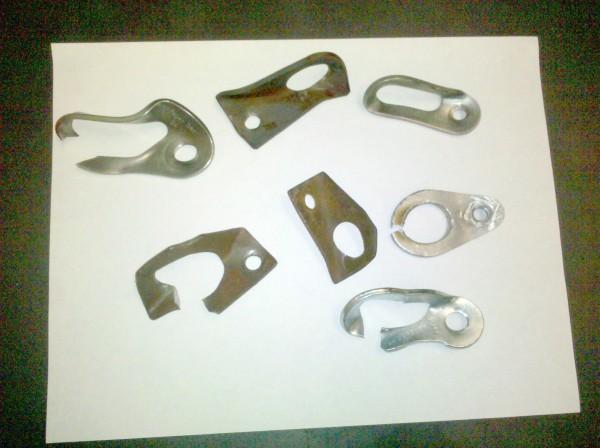 L to R top: Pagan SS 3/8, MS 1/4 mild steel, SMC SS 1/4 <br/> Mid: mild st...