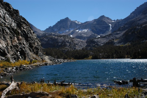 Passing through Little Lakes Basin.