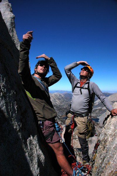 Ryan and Jeremy check out the upper ridge.