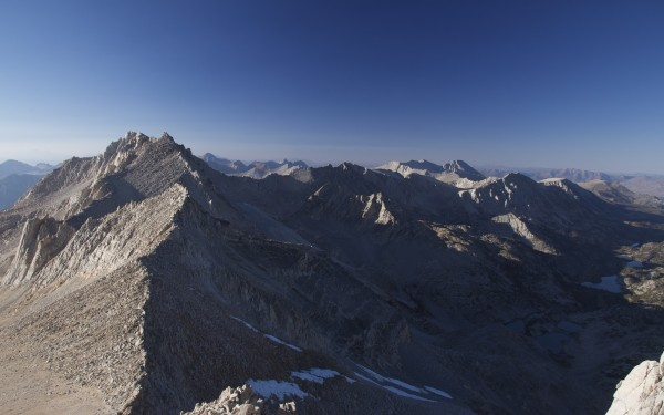Looking north from near the summit of Bear Creek Spire.