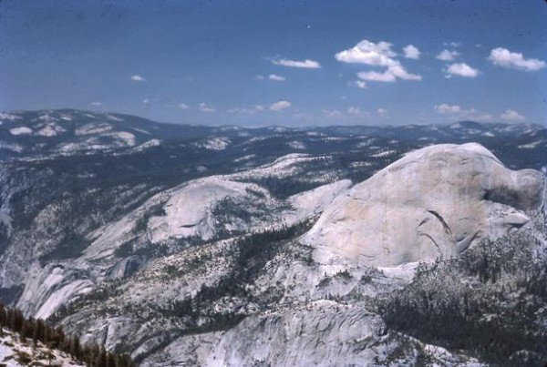 Looking N. toward Half Dome and North Dome from Starr King's summit.