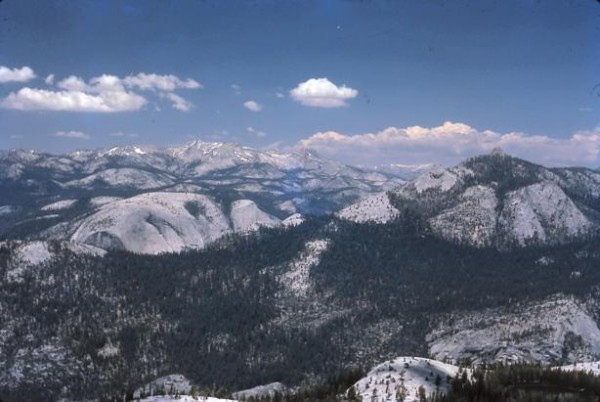 Looking NE toward Mt. Watkins and Tuolumne Meadows from Starr King's s...