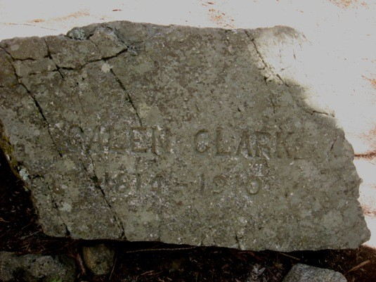 Galen Clark's Headstone, brought (by him) to the site where he carved ...