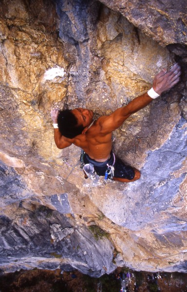 "Hiko Ito on his route ""Magic Kingdom"", Marble Caves, CA."