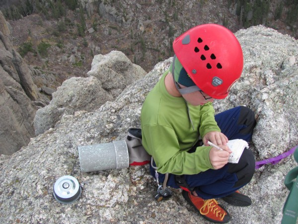Writing in the summit register