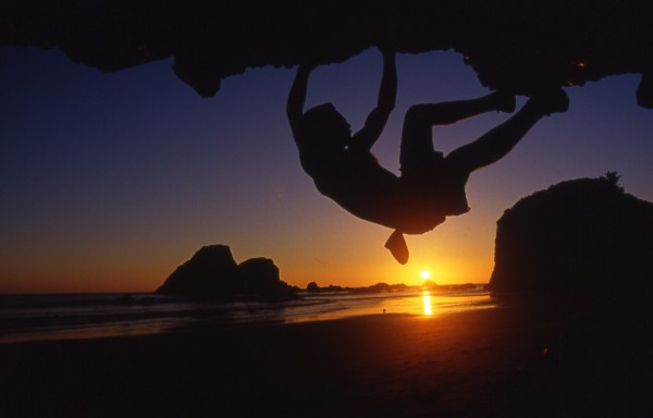 Eric Chemello bouldering at Houda, CA.