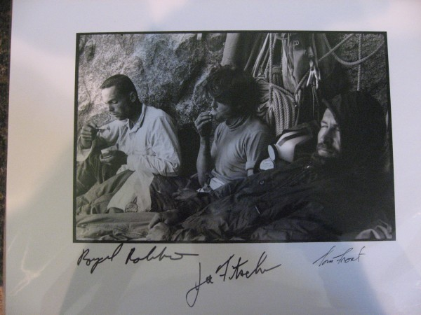 A Tom Frost print so graciously signed by the three in the photo.