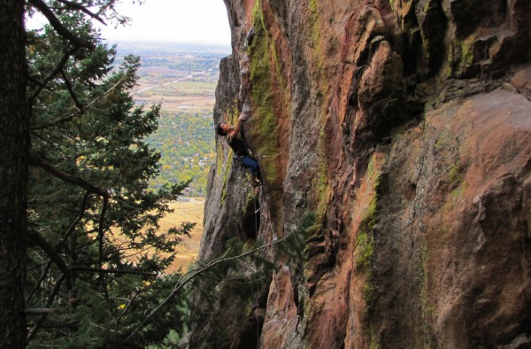 New Matt Samet route in the Flatirons.