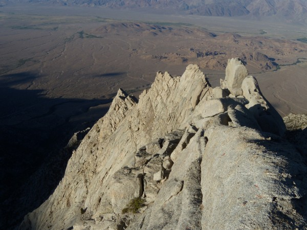 Looking down route at the Alabama Hills