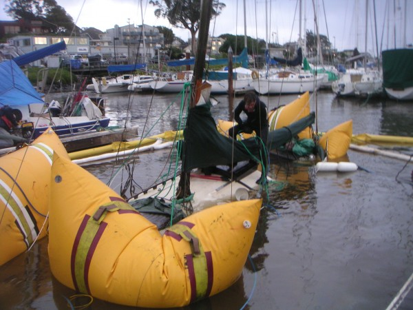 Salvaging boats