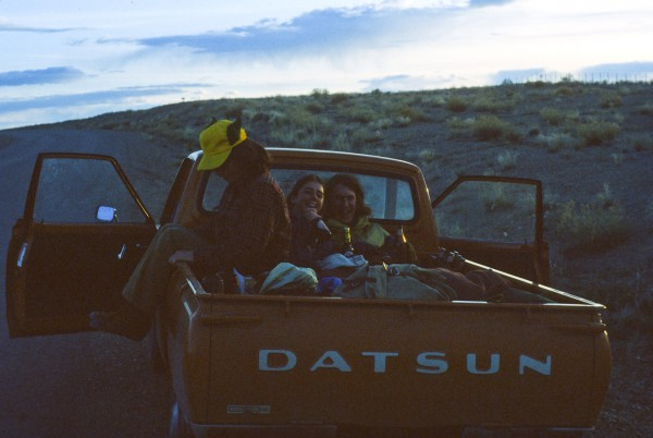 Somewhere in the Utah desert 1979 with Doug Scott and Caroline ?