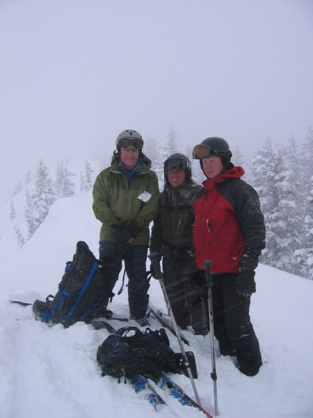 Up on ridge at Bridger Bowl
