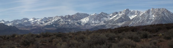 Eastern Sierra and Volcanic Tableland near Bishop CA