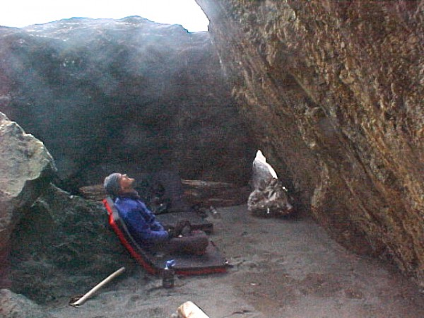 Paul Humphrey in The Pit Of Dispare, Lost Rocks, Klamath, CA
