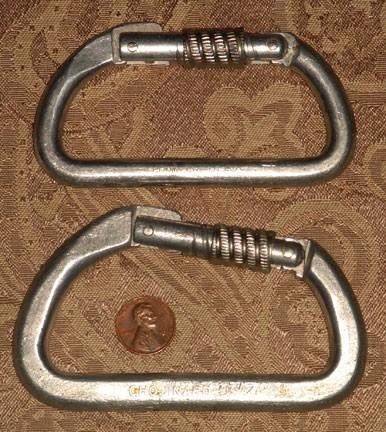 Chouinard Locking Carabiners