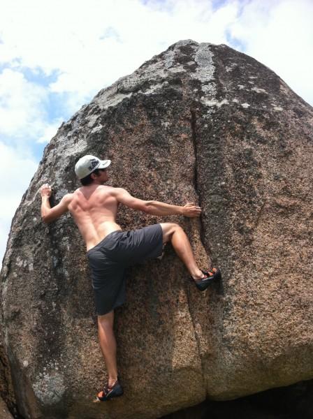 Bouldering in Guarda, Brazil.