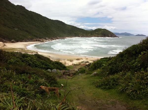 Deserted beach north of Guarda, Brazil