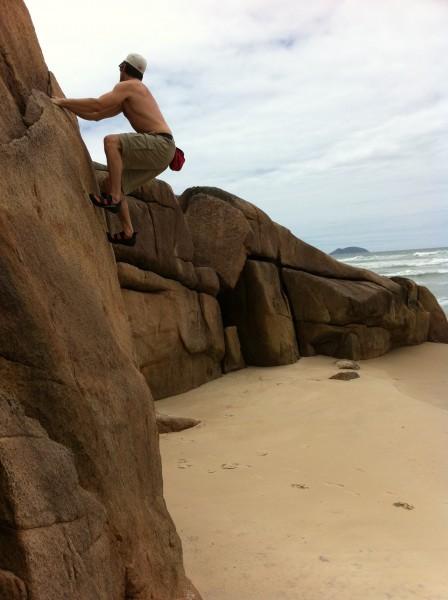 Bouldering in Brazil.