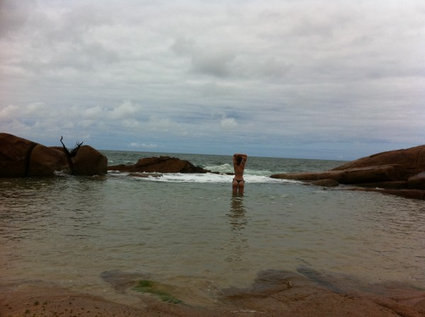 Natural Brazilian Infinity pool by the ocean