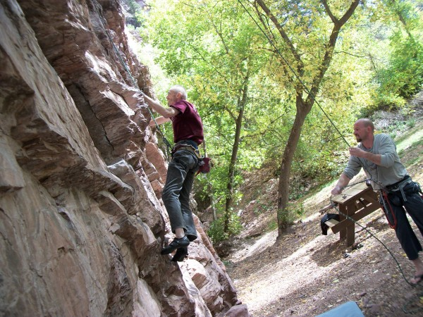 Met the belayer, Bobby, in the park. He just moved from Arcata, my hom...