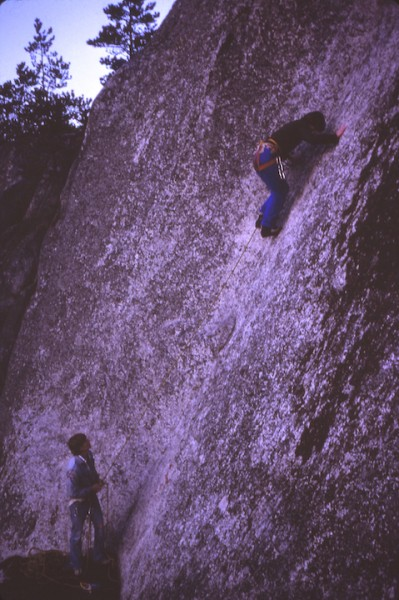 Note my Whillans Harness - Don Serl did this face climb in crampons 30...