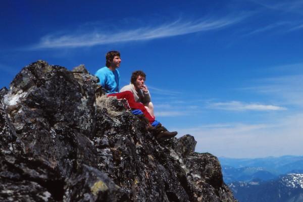 Craig Thompson enjoying a ciggarette on the summit